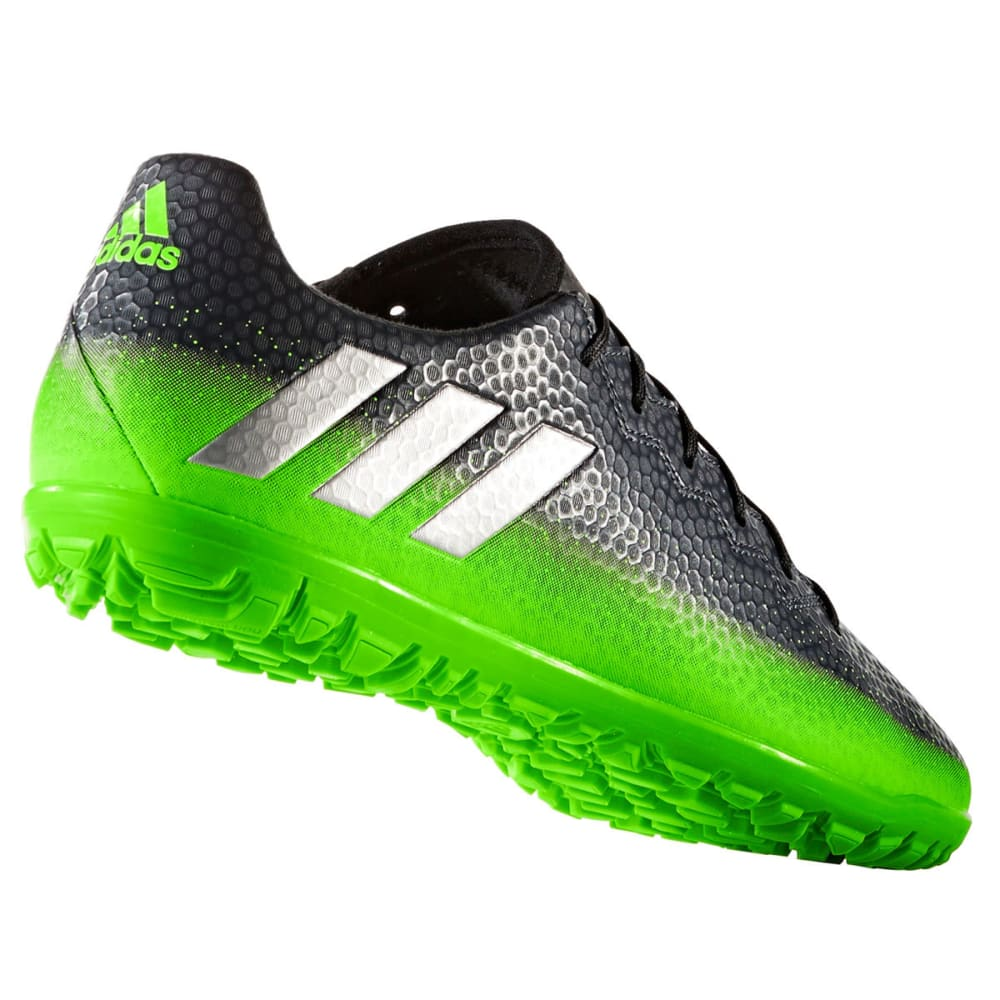 ADIDAS Men's Messi 16.3 Turf Soccer Cleats, Dark Grey/Green - BLACK/GREEN