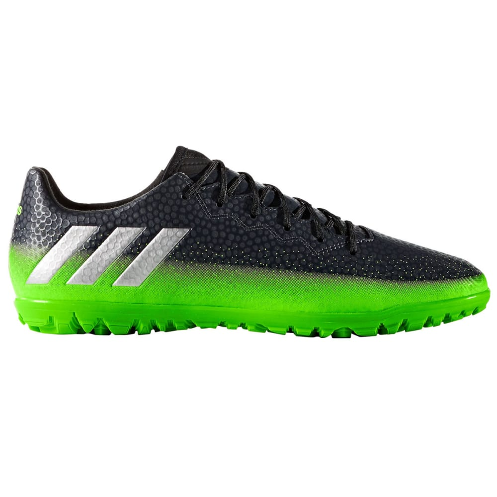 ADIDAS Men's Messi 16.3 Turf Soccer Cleats, Dark Grey/Green 12