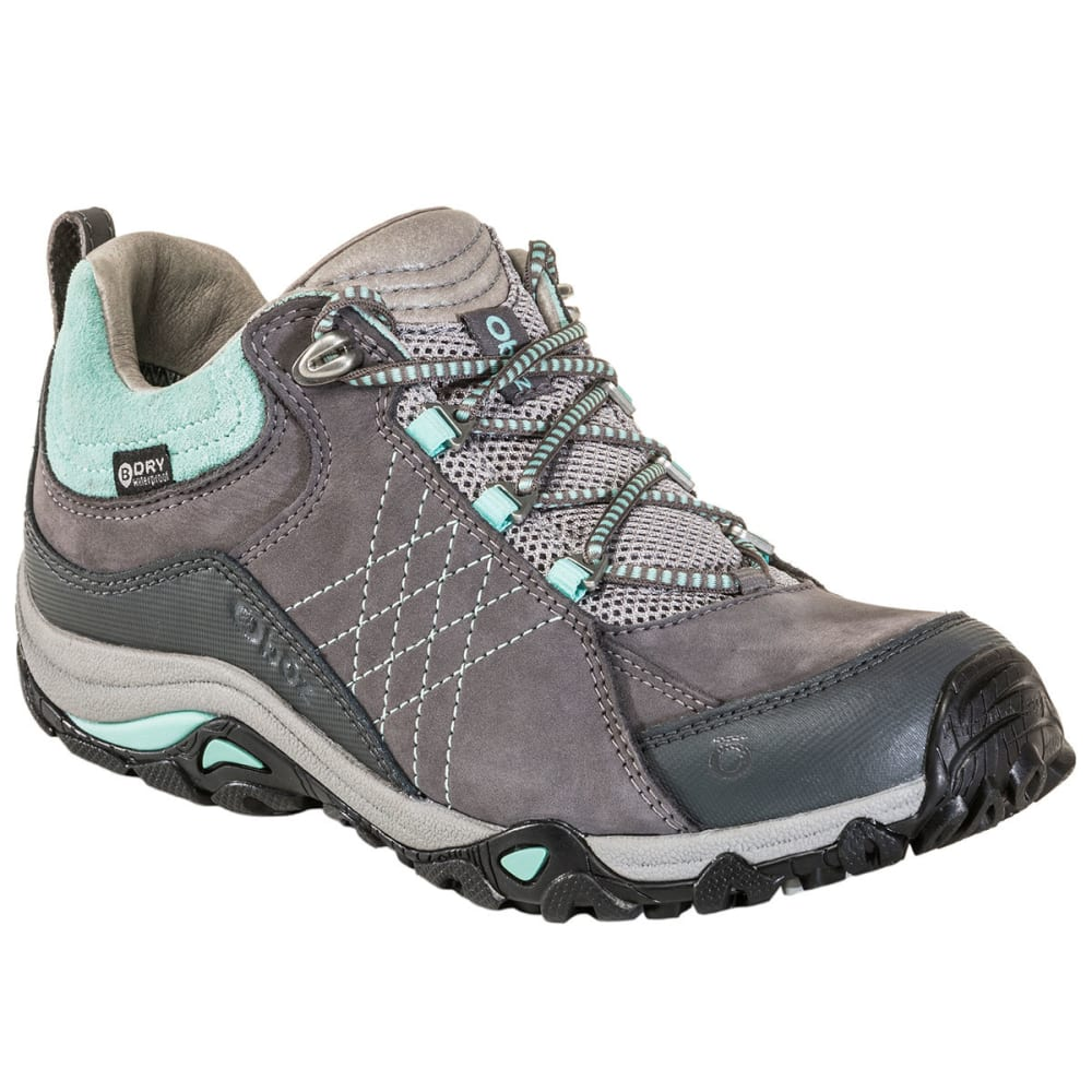 OBOZ Women's Sapphire Low Waterproof Hiking Shoes - CHARCOAL/BEACH