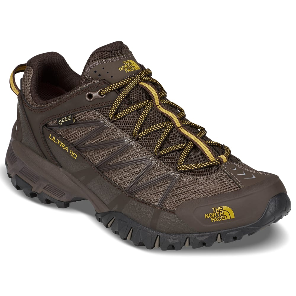 The North Face Men's Ultra 110 Gtx Waterproof Trail Running Shoes - Brown, 8