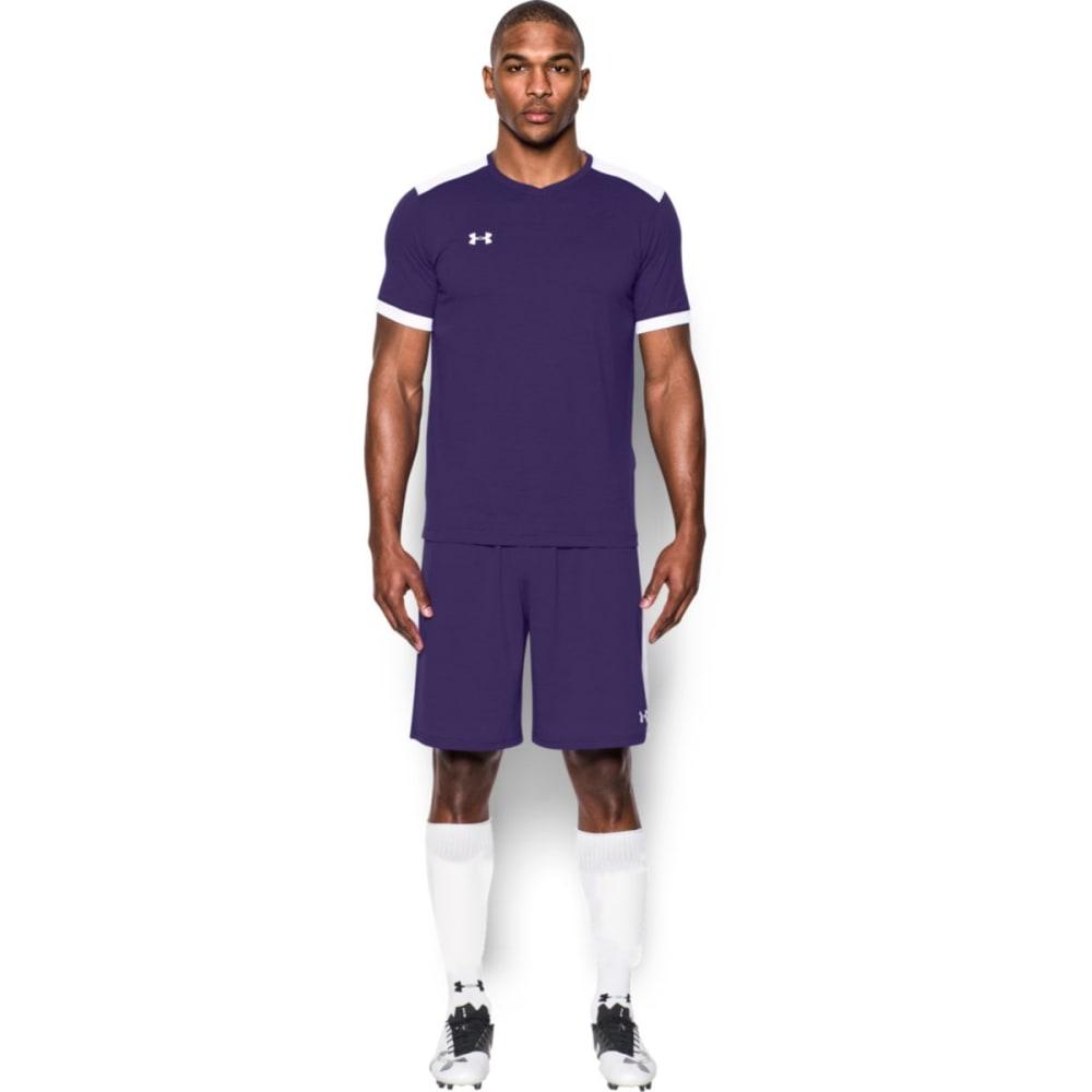 Under Armour Men's Soccer Short Sleeve Threadborne Match Jersey Shirt - Purple, L