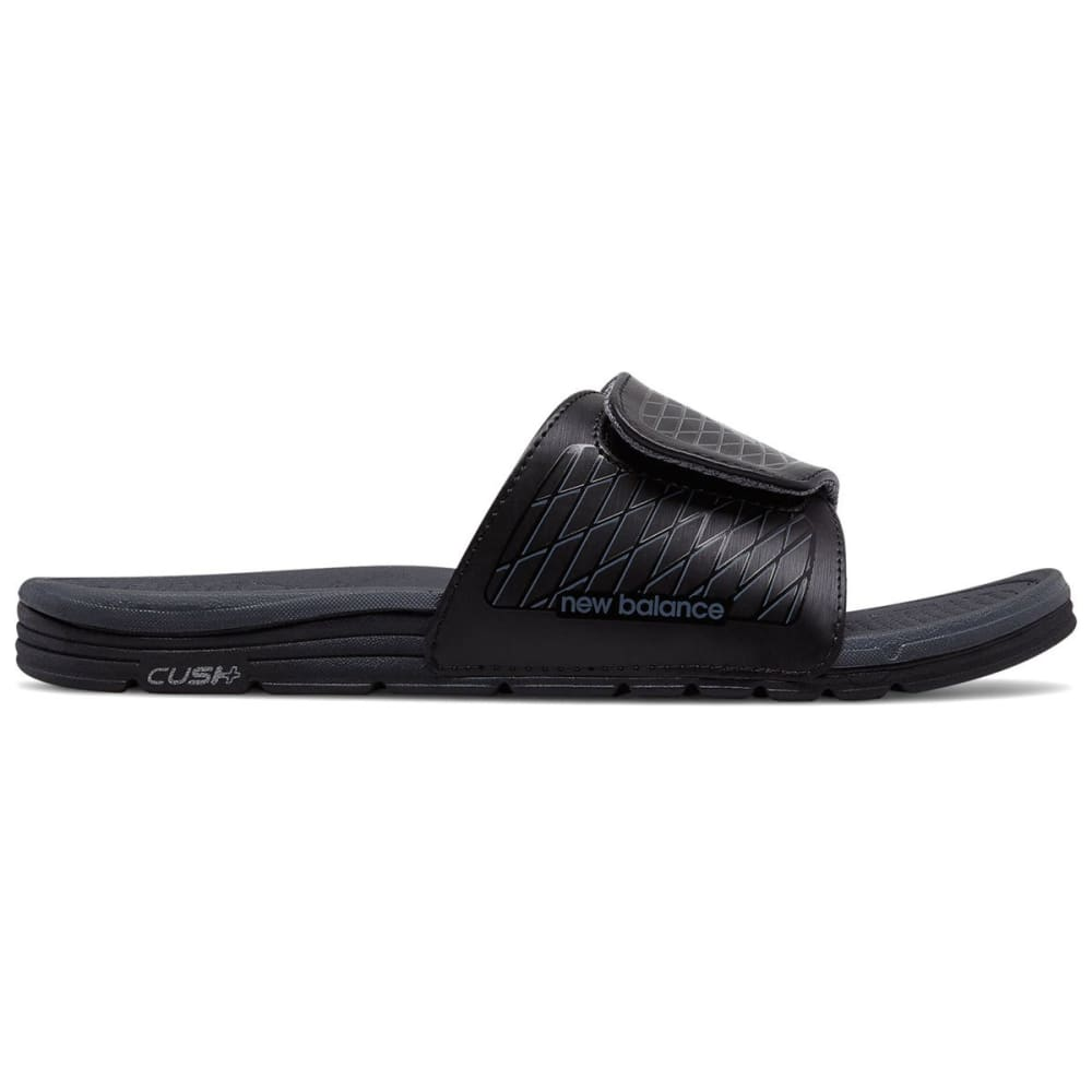 New Balance Men's Cush+ Slide Sandals, Wide - Black, 10