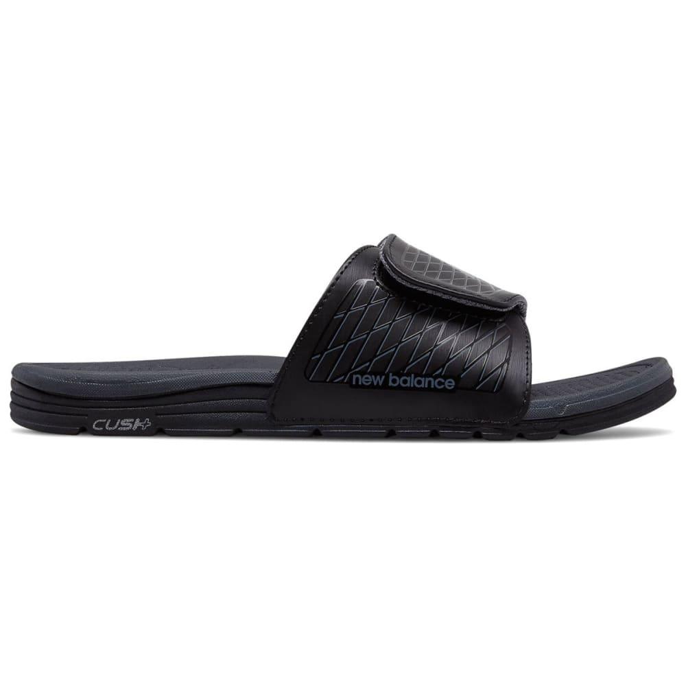 New Balance Men's Cush+ Slide Sandals, Wide - Black, 8