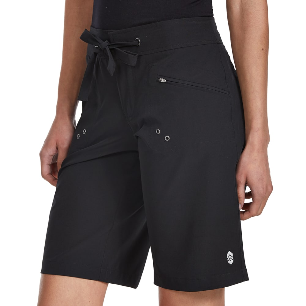 FREE COUNTRY Women's 12 in. Bermuda Boardshorts - BLACK