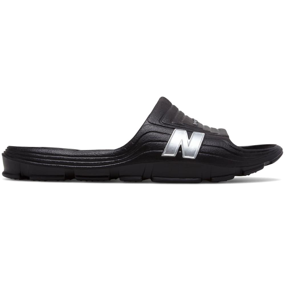 NEW BALANCE Men's Float Slide Sandals, Wide - BLACK