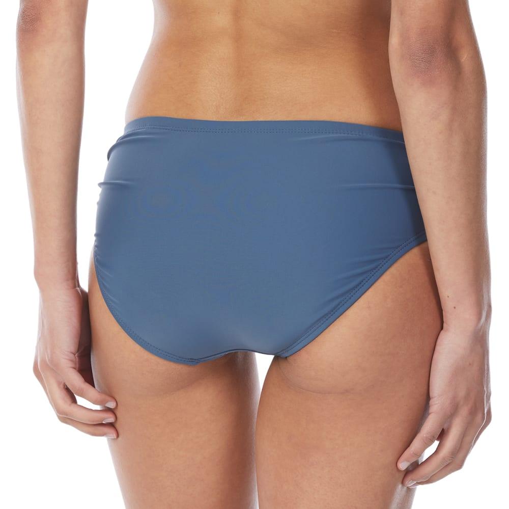 FREE COUNTRY Women's Side Ruched Bikini Briefs - SLATE