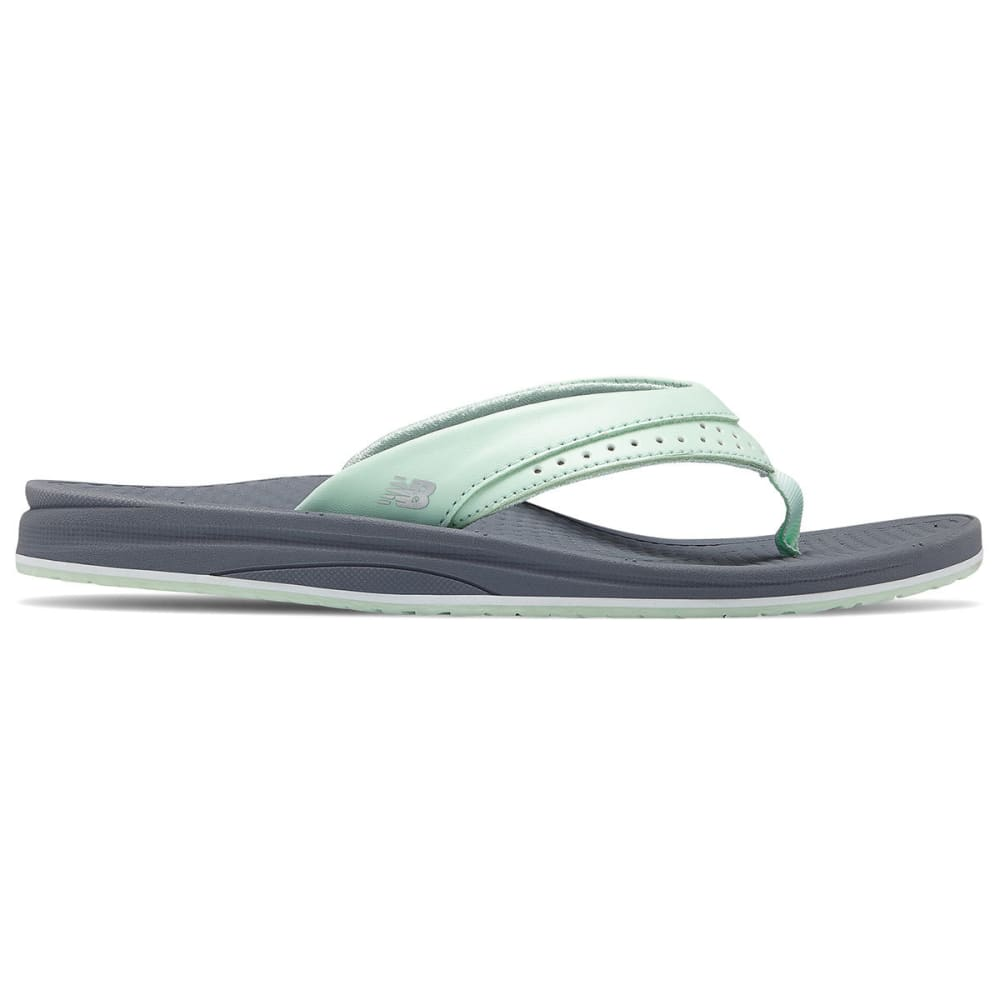 New Balance Women's Renew Thong Sandals - Black, 8