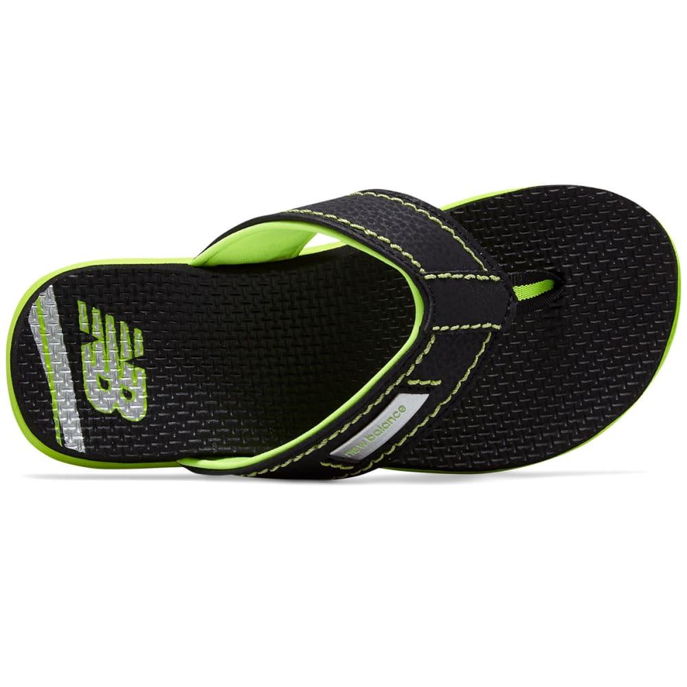NEW BALANCE Big Boys' Grade School Mojo Thong Sandals - BLACK