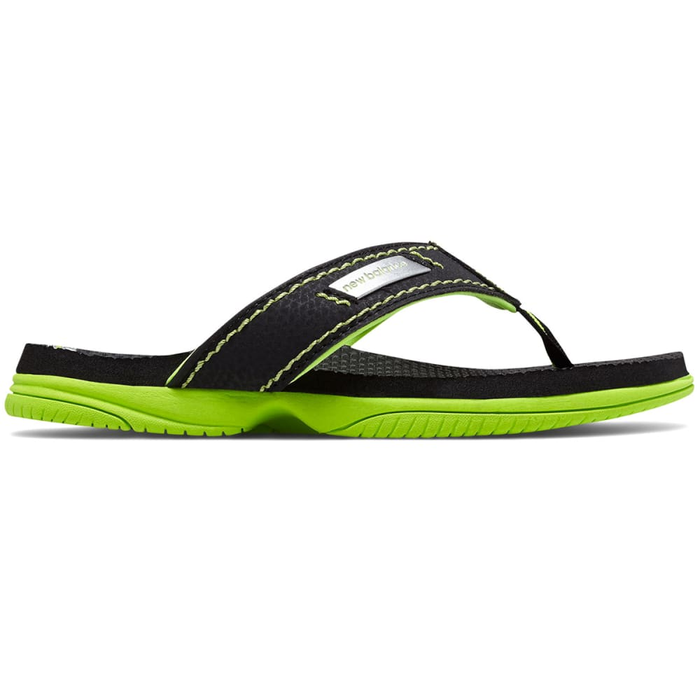 New Balance Big Boys' Grade School Mojo Thong Sandals - Black, 4