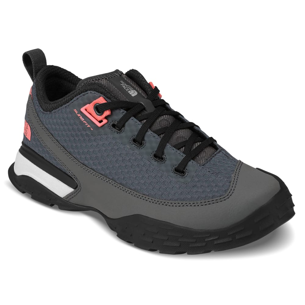 THE NORTH FACE Women's One Trail Low Hiking Shoes - GREY/ORANGE