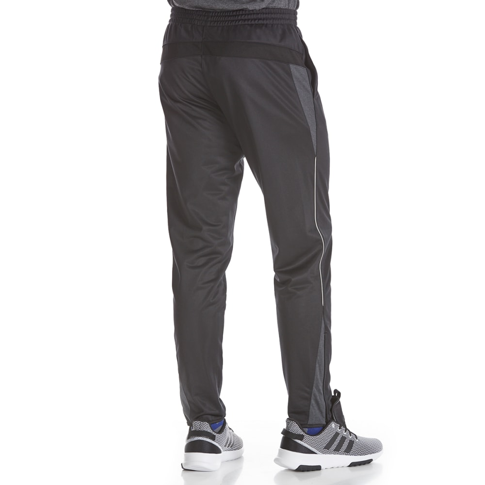 AVIA Men's Poly Tricot Pants - BLK/BLK-BK001