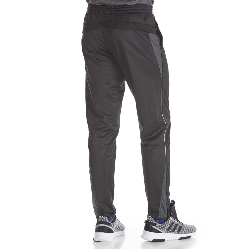 AVIA Men's Poly Tricot Pants - BLK/BLK-BK001