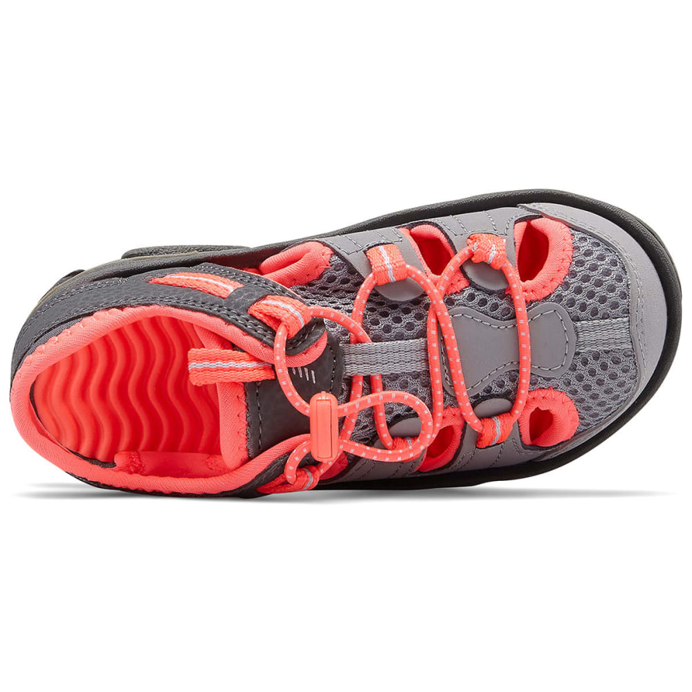 NEW BALANCE Little Girls' Adirondack Sandals - GREY
