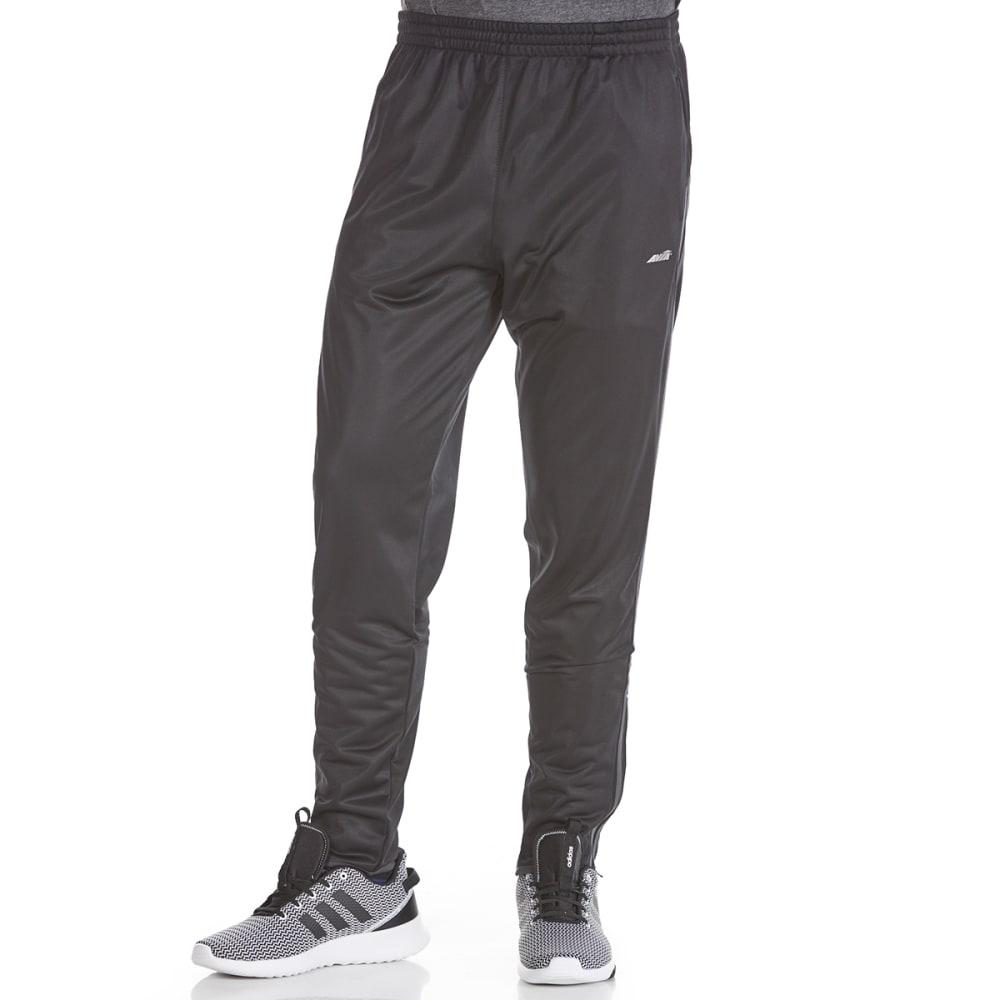 AVIA Men's Poly Tricot Side Stripe Pants - BLACK-BK001
