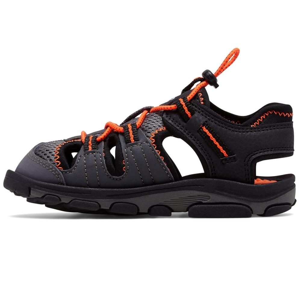 NEW BALANCE Little Boys' Adirondack Sandals, Wide - BLACK