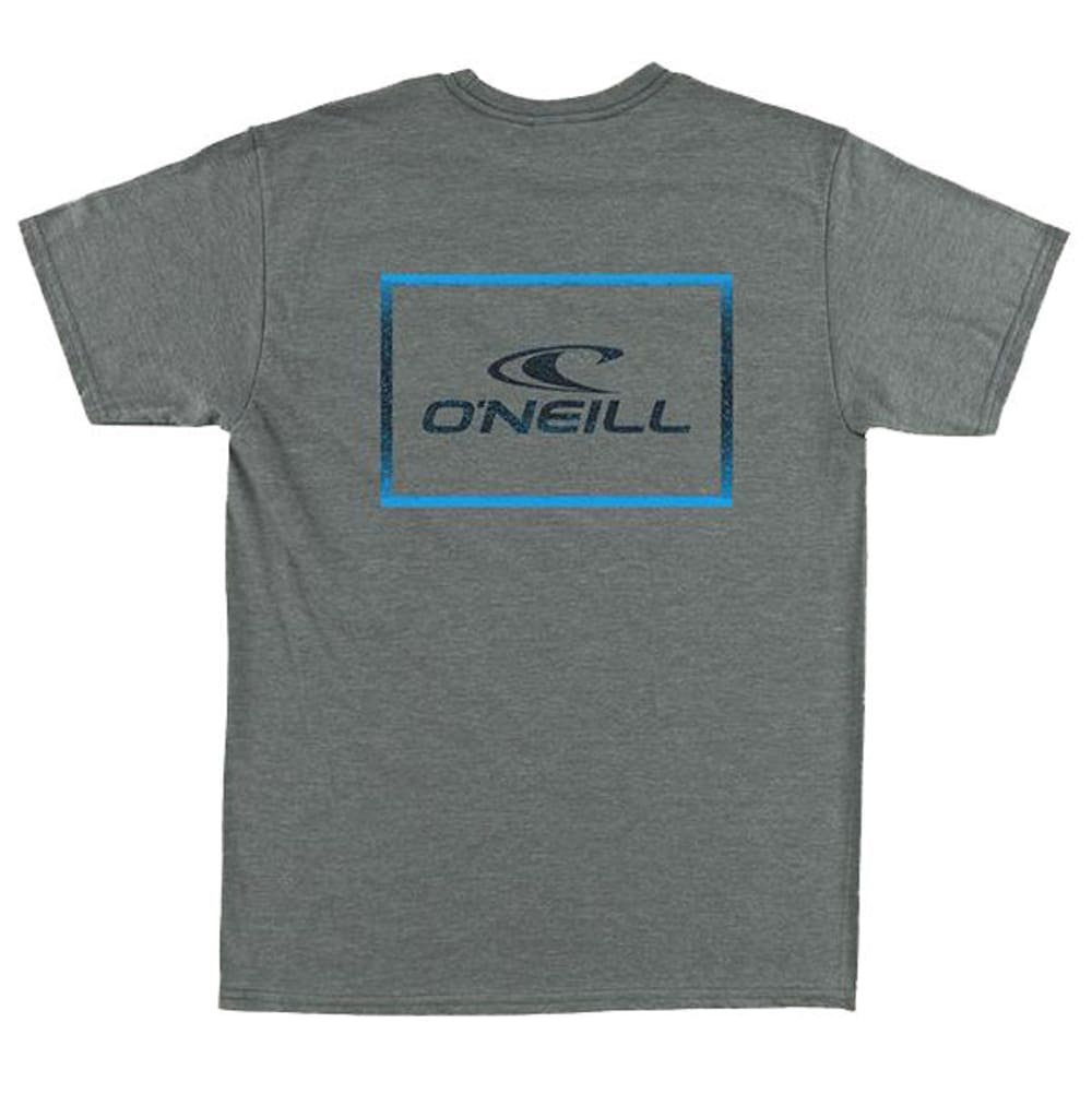 O'NEILL Guys' Square Root Short-Sleeve Tee - MED HTR GRY-MHT