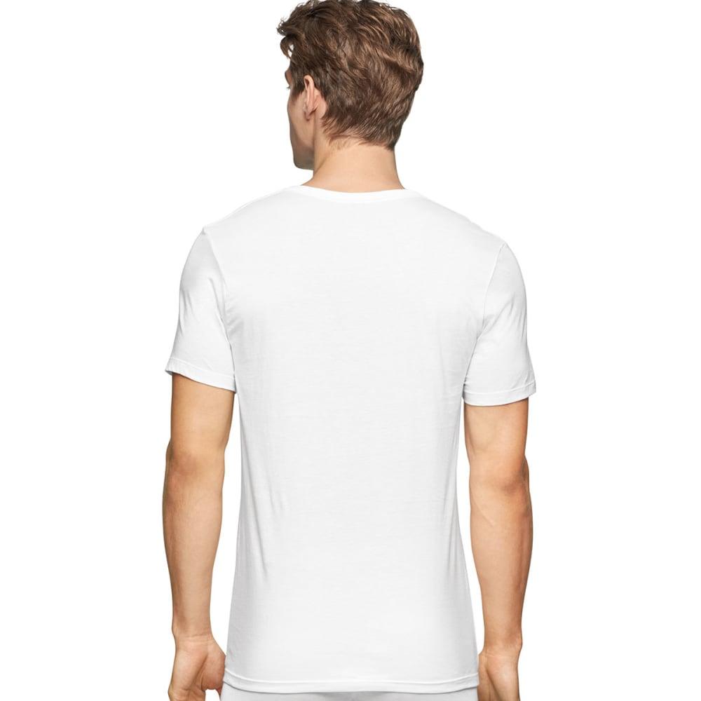 CALVIN KLEIN Men's Classic Slim Crew Short-Sleeve Undershirts, 3 Pack - WHITE-100