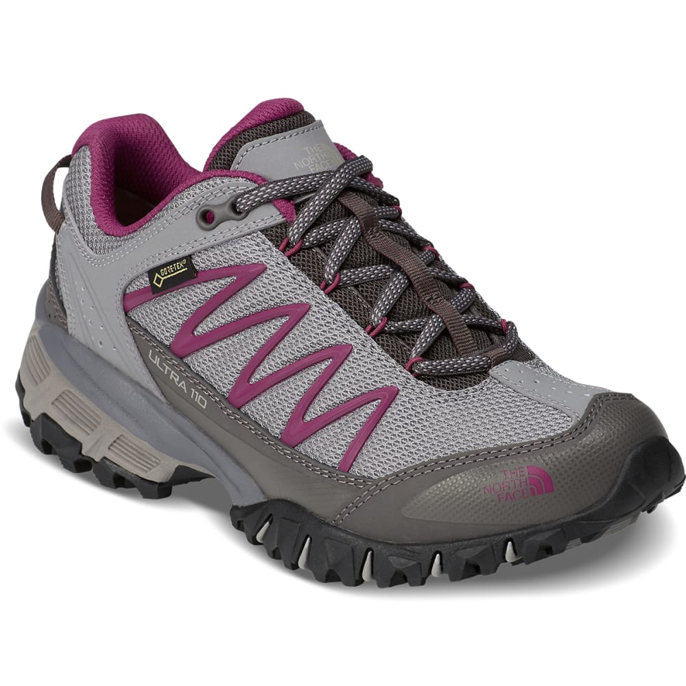 THE NORTH FACE Women's Ultra 110 GTX Waterproof Trail Running Shoes - SILVER/PURPLE