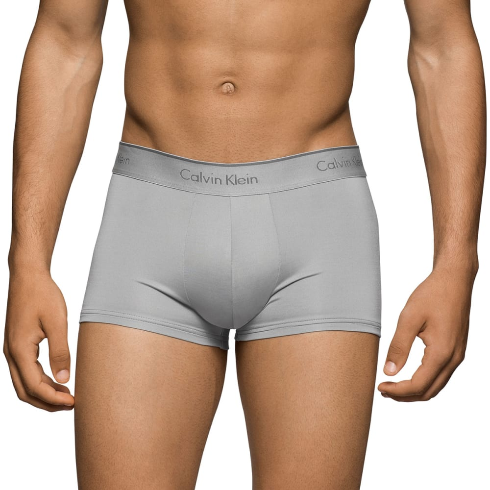 CALVIN KLEIN Men's Stretch Microfiber Low-Rise Trunks, 3 Pack - ASSORTED-902