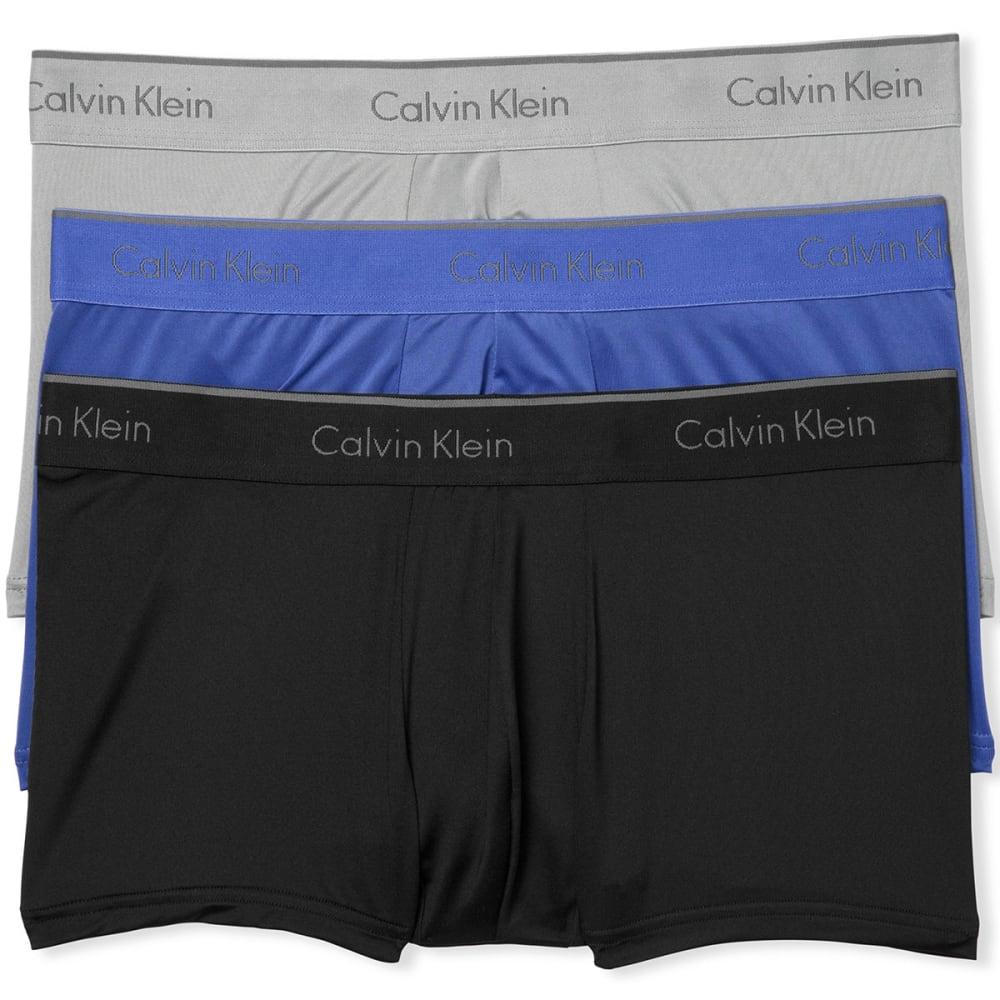 CALVIN KLEIN Men's Stretch Microfiber Low-Rise Trunks, 3 Pack - ASSORTED-902