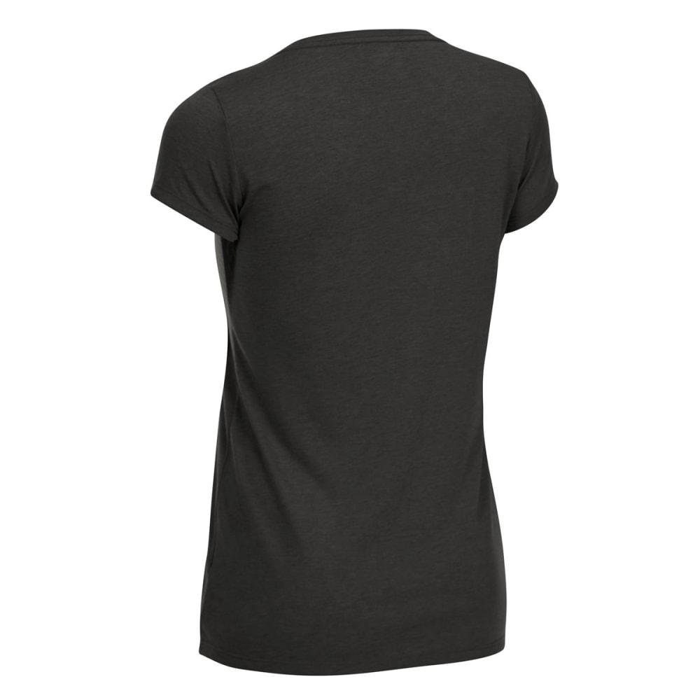 EMS Women's Techwick Vital V-Neck Short-Sleeve Tee - JET BLACK HTR