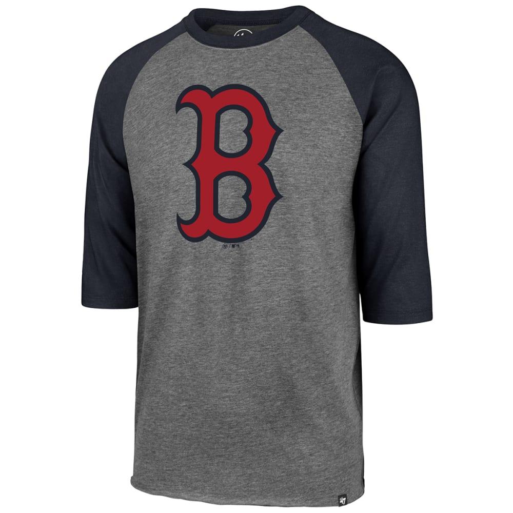 BOSTON RED SOX Men's Imprint '47 Club Raglan Long-Sleeve Tee - GREY