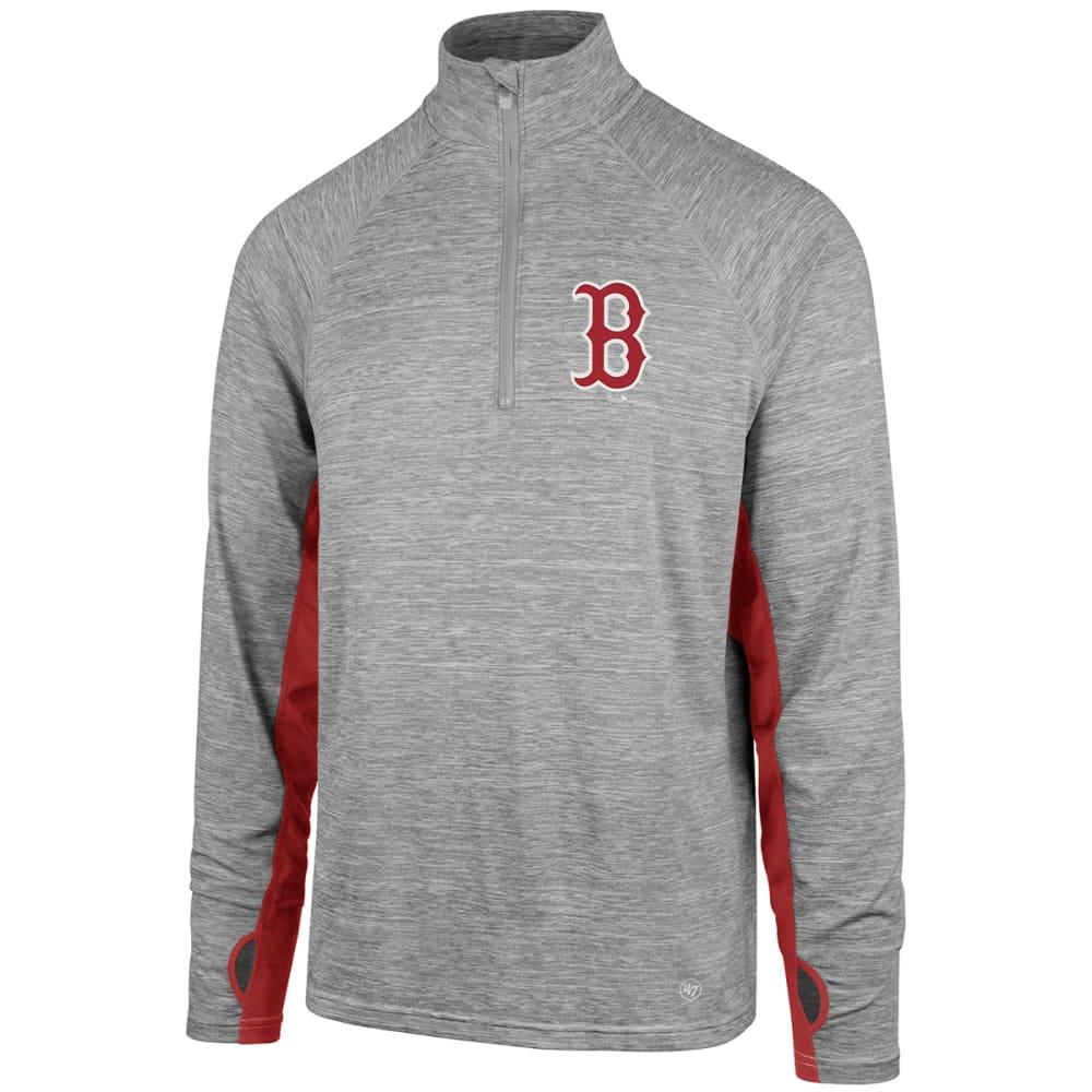 BOSTON RED SOX Men's Evolve Forward 1/4 Zip Pullover - GREY
