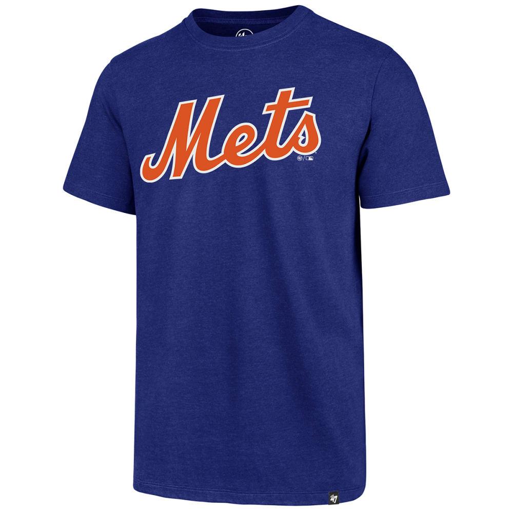 NEW YORK METS Men's Wordmark '47 Club Short-Sleeve Tee - ROYAL BLUE