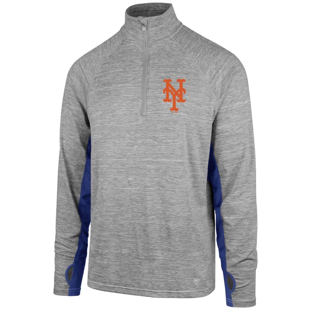 NEW YORK METS Men's Evolve '47 Forward ¼-Zip Pullover - GREY