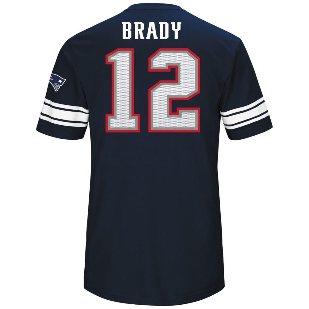 NEW ENGLAND PATRIOTS Men's Tom Brady #12 Hashmark Short-Sleeve Jersey - NAVY