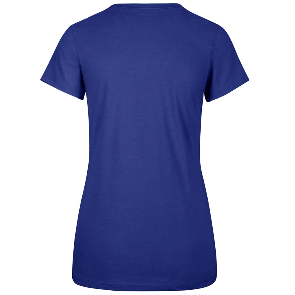 NEW YORK METS Women's Halo '47 Club Scoop Neck Short-Sleeve Tee - ROYAL BLUE