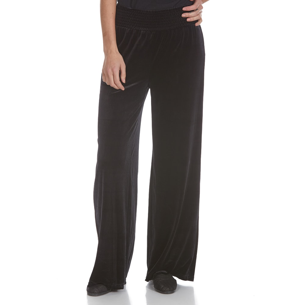 Crimson In Grace Women's Smock Waist Velvet Pants - Black, M