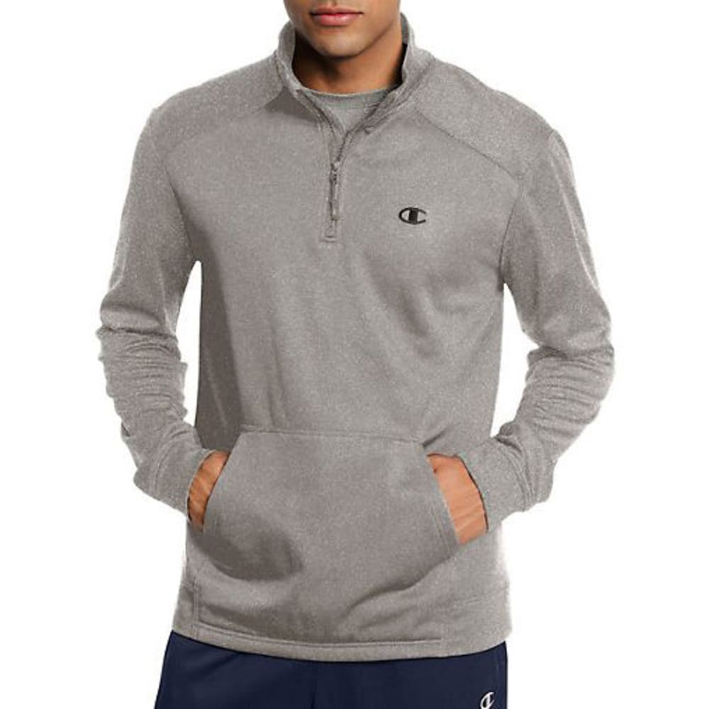 CHAMPION Men's Tech Fleece ¼-Zip Pullover - OXFORD GRAY-806