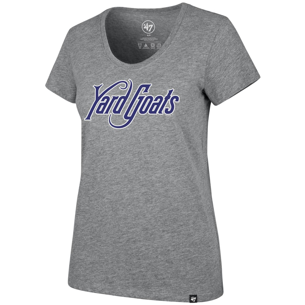 HARTFORD YARD GOATS Women's Wordmark '47 Club Scoop-Neck Short-Sleeve Tee - GREY