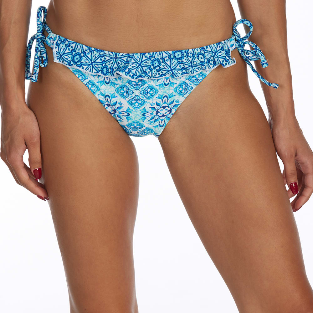 Y.M.I. Juniors' Ruffle Detail Tie-Side Bikini Bottoms - SURF THE WB