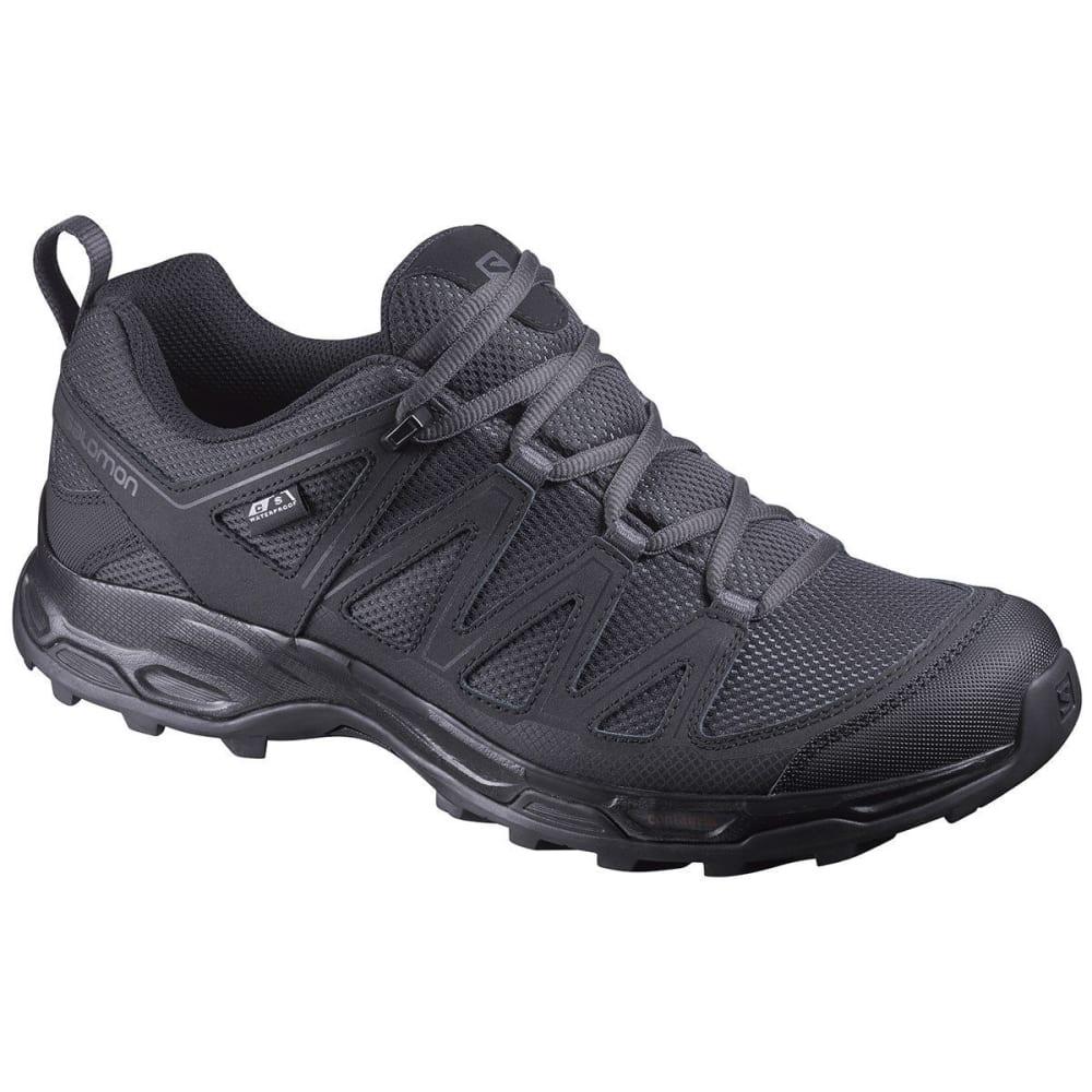 SALOMON Men's Pathfinder Low ClimaShield Waterproof Hiking Shoes - PHANTOM/BLK MAGNET