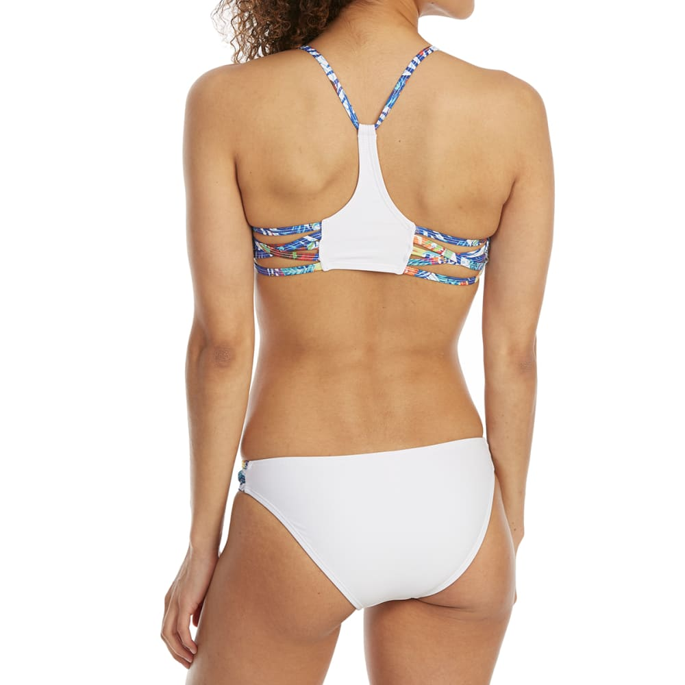 YMI Juniors' Cage Side Scoop Bikini Bottoms - TROPICAL PLACEMENT