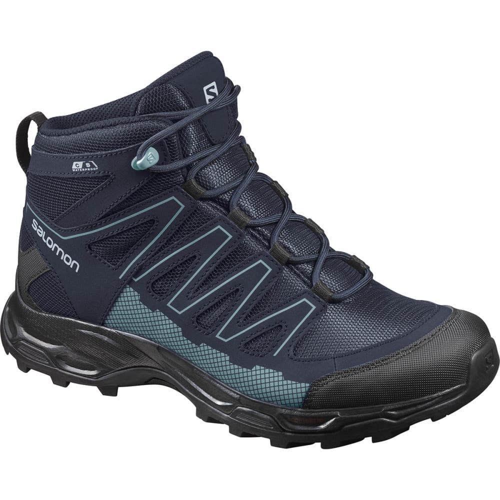 SALOMON Women's Pathfinder Mid ClimaShield Waterproof Hiking Boots - INDIA INK