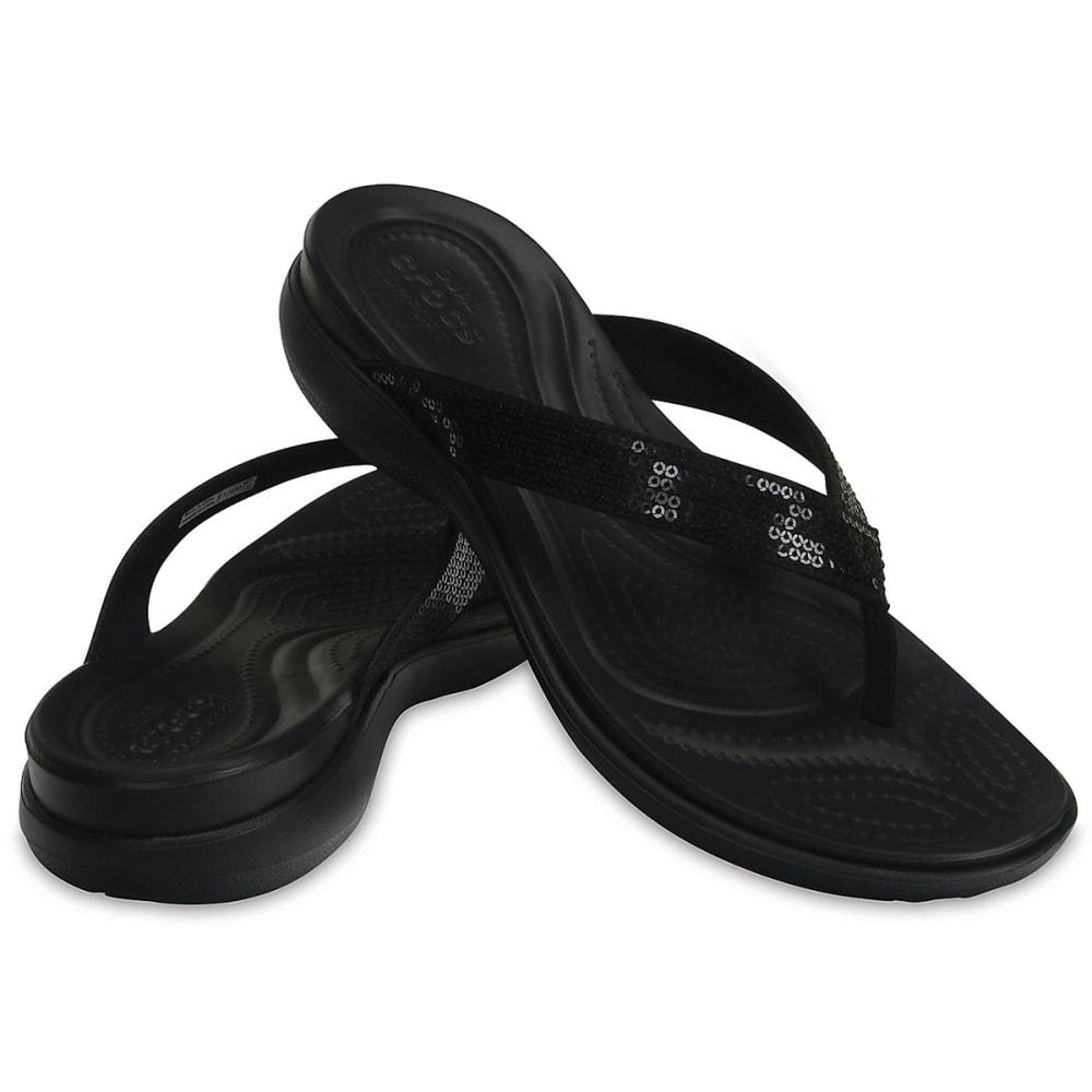 73409d897e5257 Crocs Women s Capri V Sequin Flip Sandals