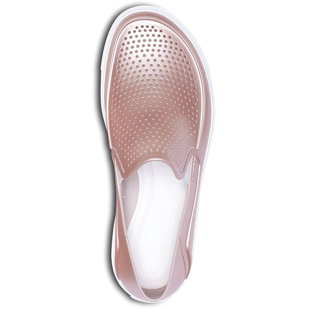 CROCS Women's CitiLane Roka Metallic Casual Slip-On Shoes - ROSE GOLD-6OD