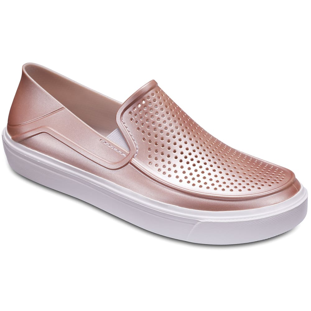 Crocs Women's Citilane Roka Metallic Casual Slip-On Shoes - Red, 8