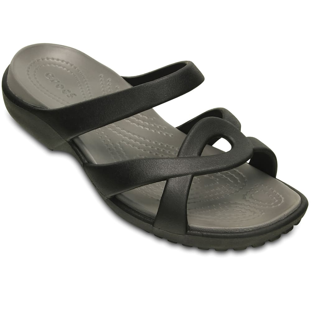 CROCS Women's Meleen Twist Sandals - BLACK/SMOKE -O5M