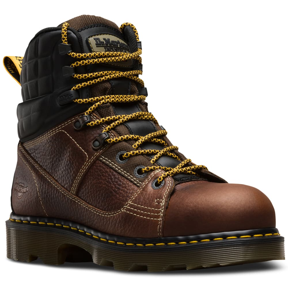 Dr. Martens Men's 8 In. Camber Steel Toe Work Boots - Brown, 8