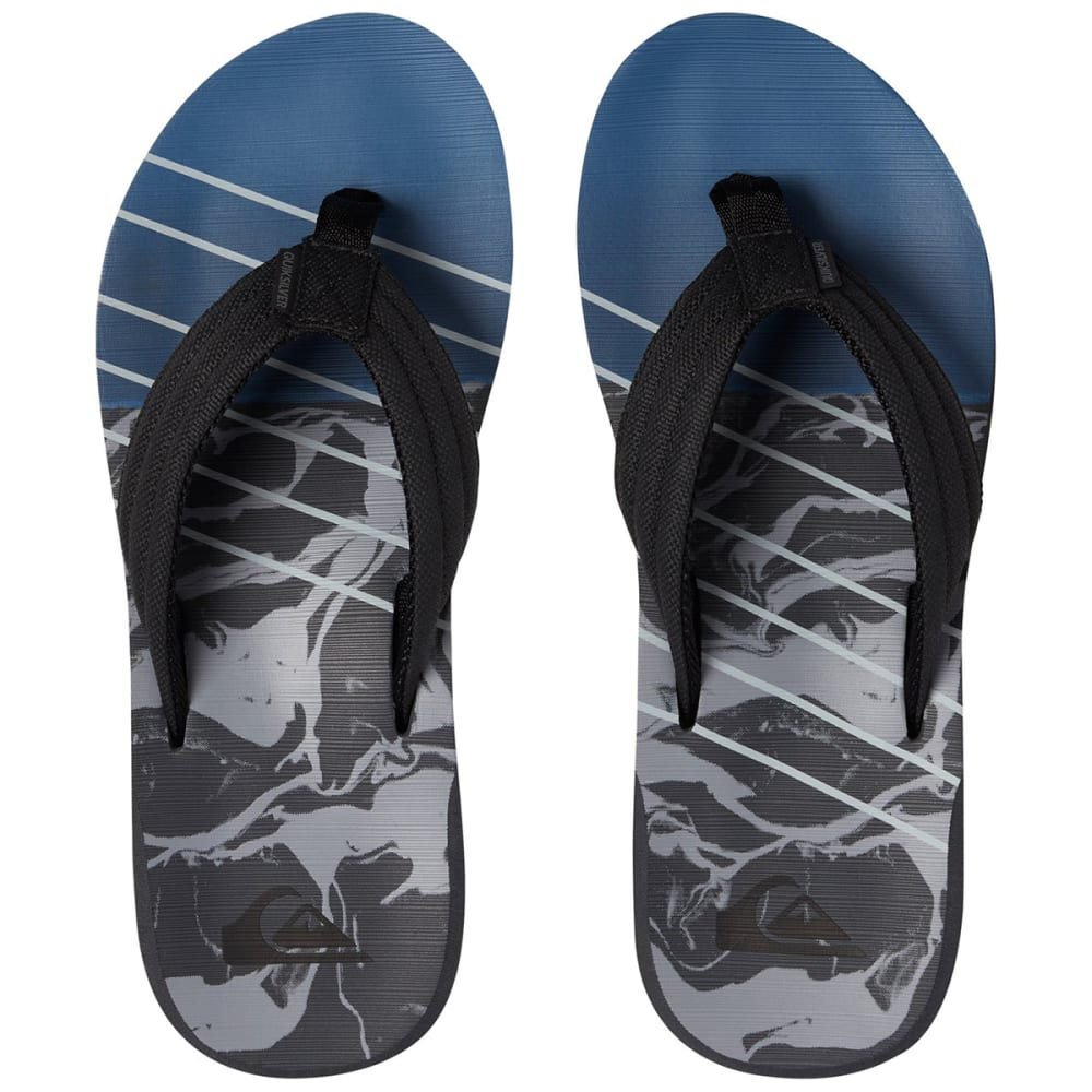 QUIKSILVER Big Boys' Carver Sandals - BLACK/GREY/BLUE