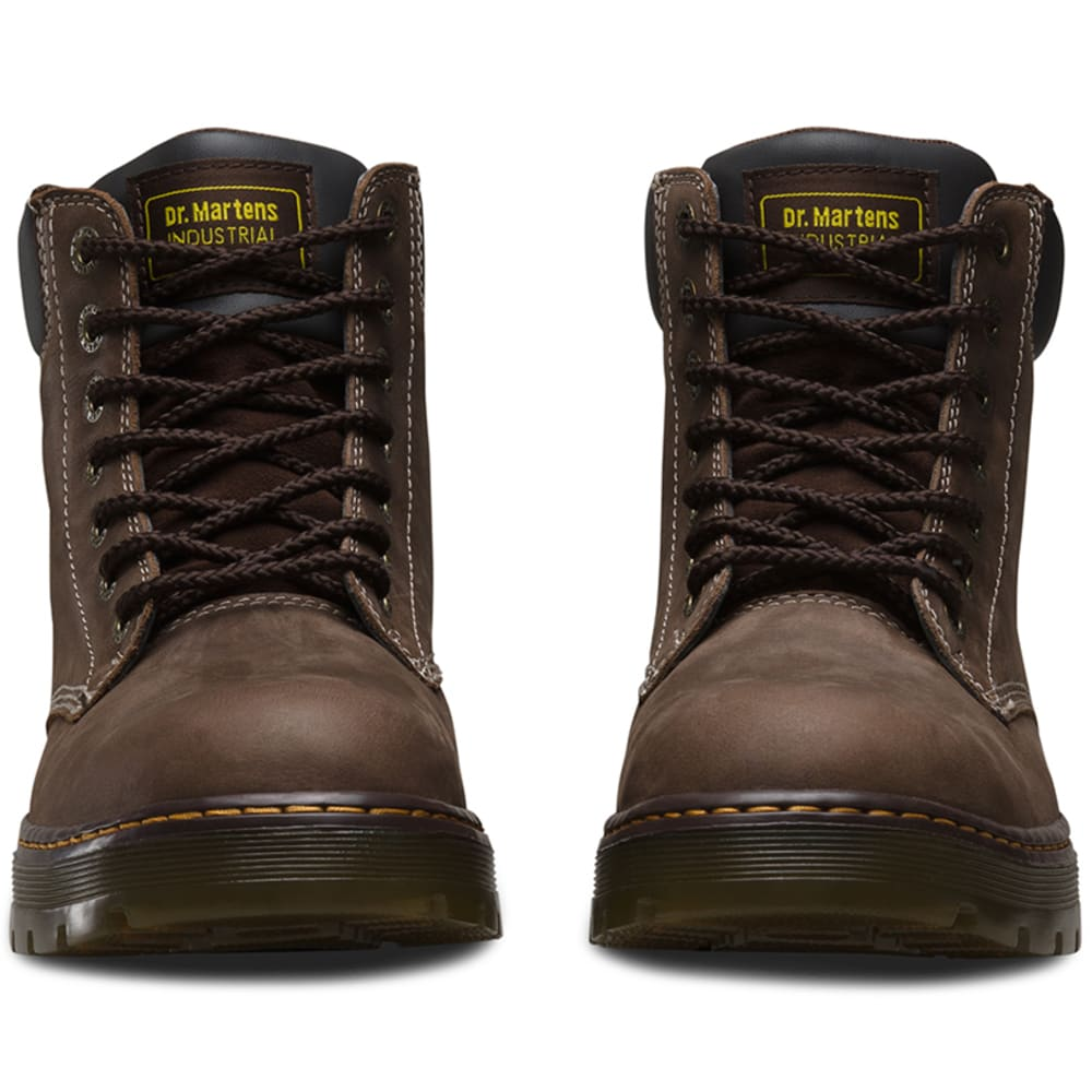 DR. MARTENS Men's 6 in. Winch Steel Toe Work Boots, Dark Crazy Horse Brown - DARK CRAZY HRS BROWN