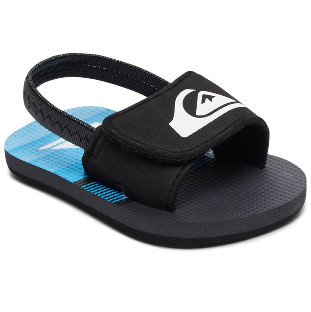 QUIKSILVER Infant Boys' Molokai Layback Slider Sandals - BLACK/GREY/BLUE