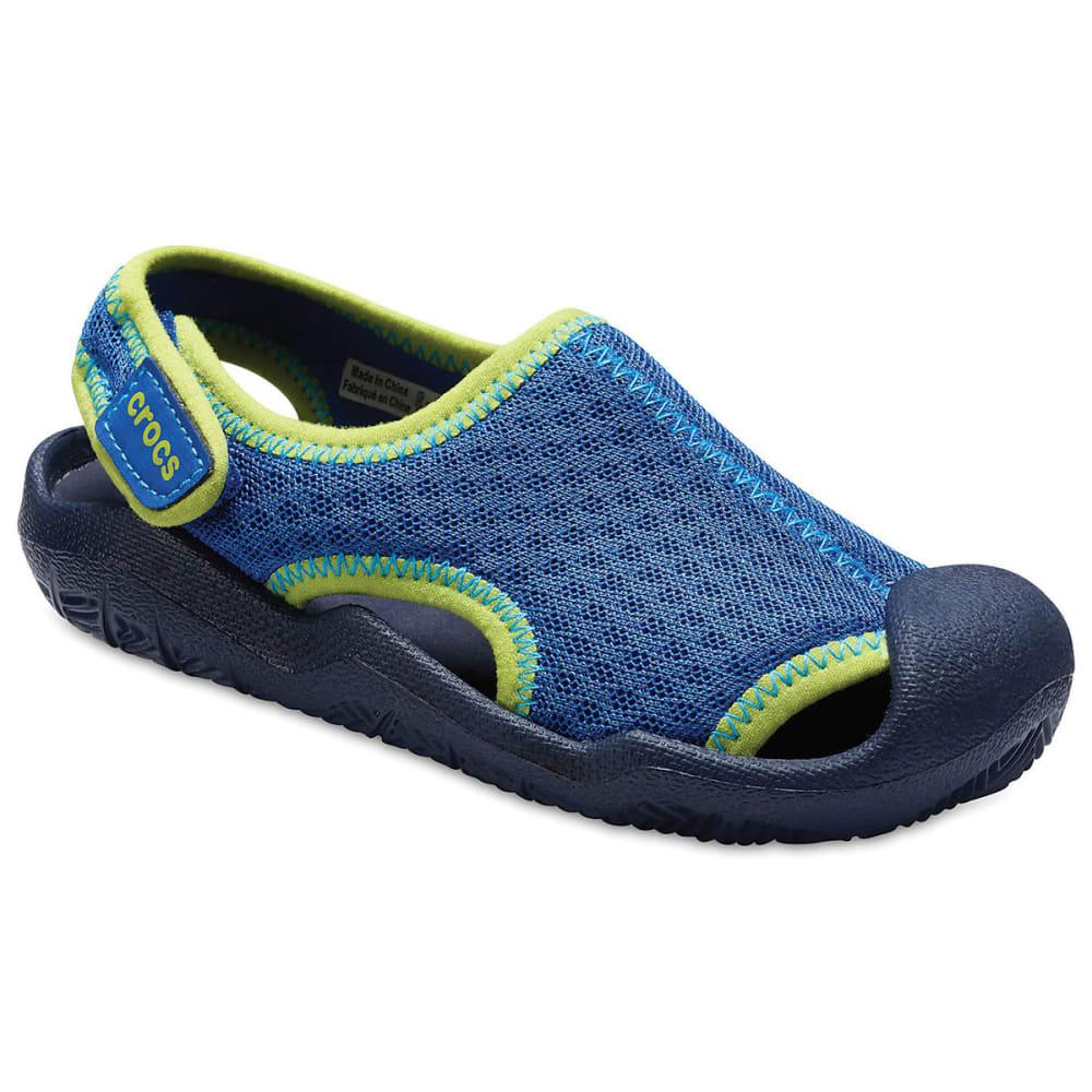 CROCS Boys' Swiftwater Sandals - BLUE JEAN -4HD