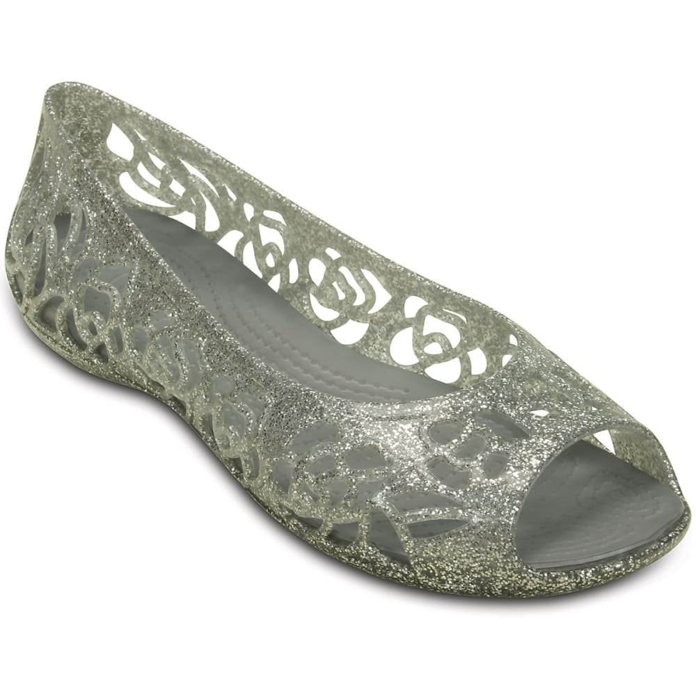CROCS Girls' Isabella Glitter Flats 3
