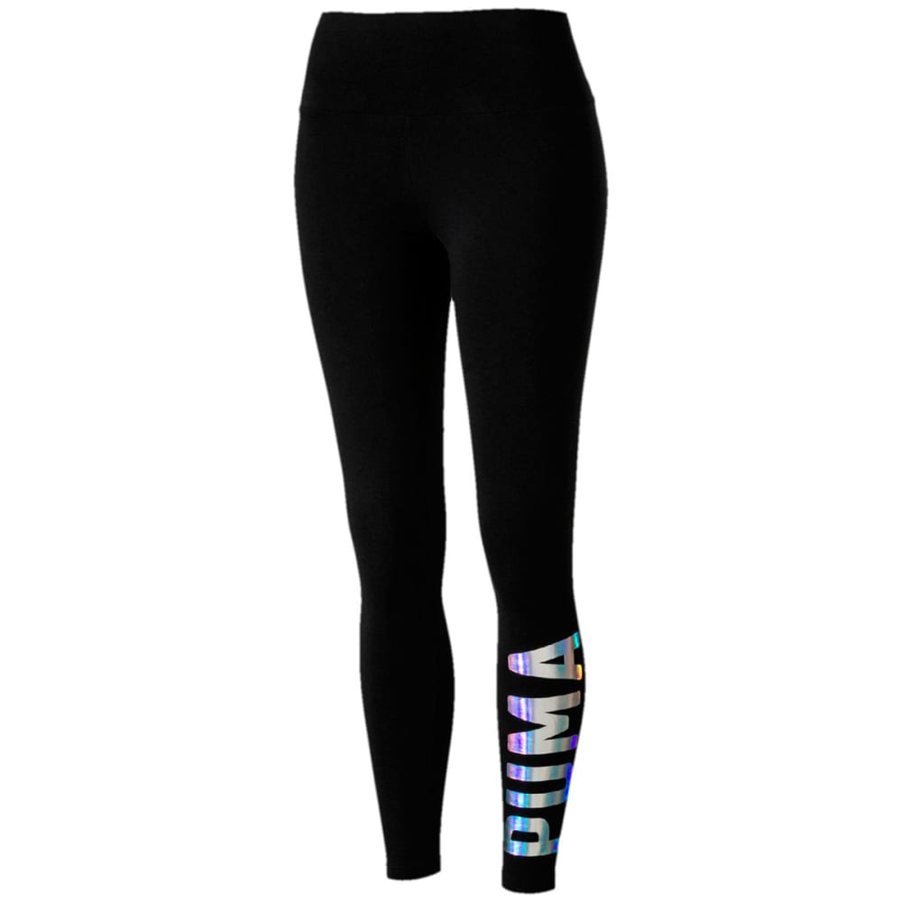PUMA Women's Logo Athletic Leggings - BLACK-51