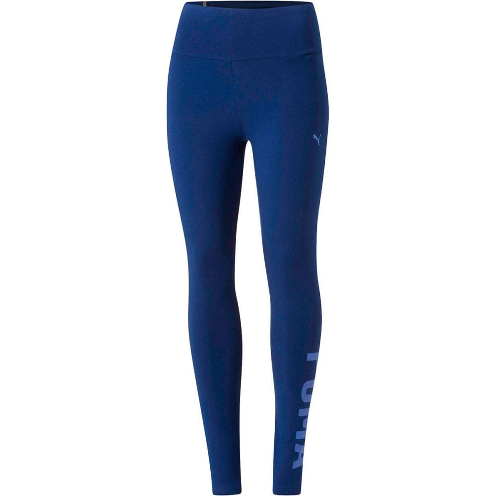 PUMA Women's Logo Athletic Leggings - BLUE DEPTH-52